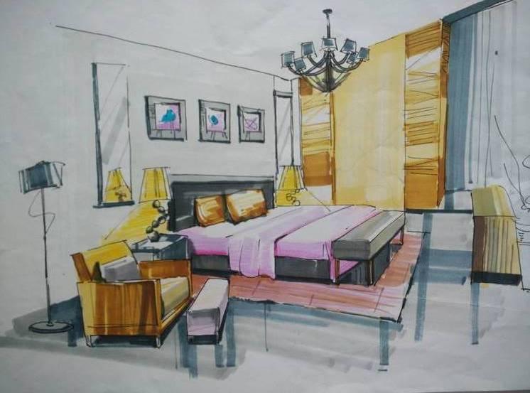 泉州室内设计 手绘设计